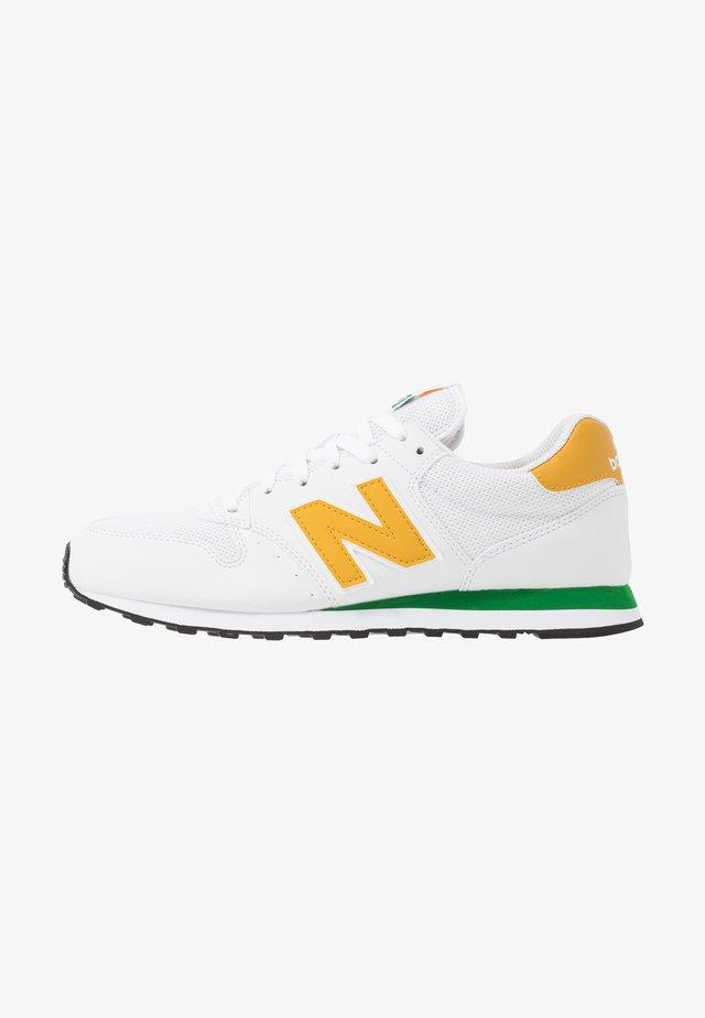 500 - Sneakers - white/green/sunflower