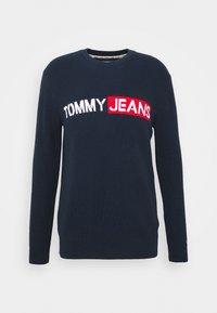 Tommy Jeans - BOLD LOGO SWEATER - Jumper - twilight navy - 3