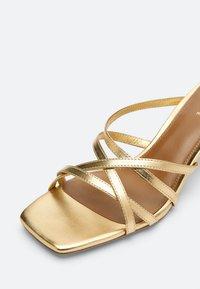 Uterqüe - Sandals - gold - 4