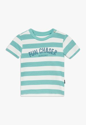 REGULAR MARSHALL STRIPE - T-shirt print - turquoise
