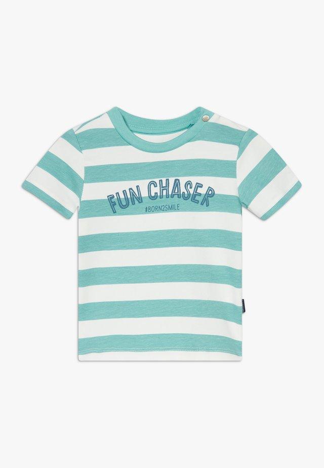 REGULAR MARSHALL STRIPE - T-Shirt print - turquoise