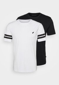 Pier One - 2 PACK - Print T-shirt - black/white - 5