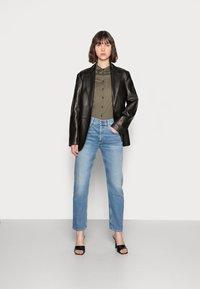 Mos Mosh - TINA - Button-down blouse - grape leaf - 1