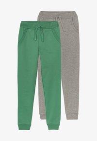 Friboo - 2 PACK - Teplákové kalhoty - light grey melange/bottle green - 3