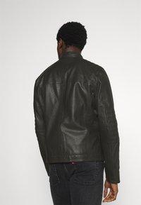 Strellson - DRIVER - Leather jacket - dark brown - 2