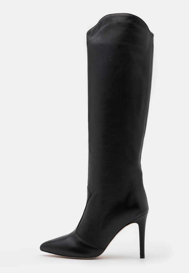 High Heel Stiefel - nero