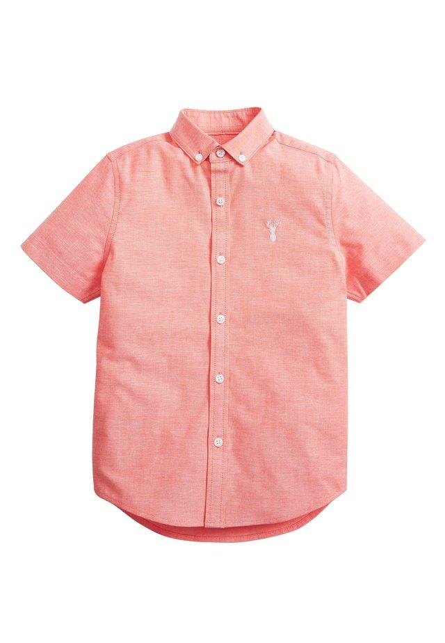 CORAL SHORT SLEEVE OXFORD SHIRT (3-16YRS) - Košile - orange