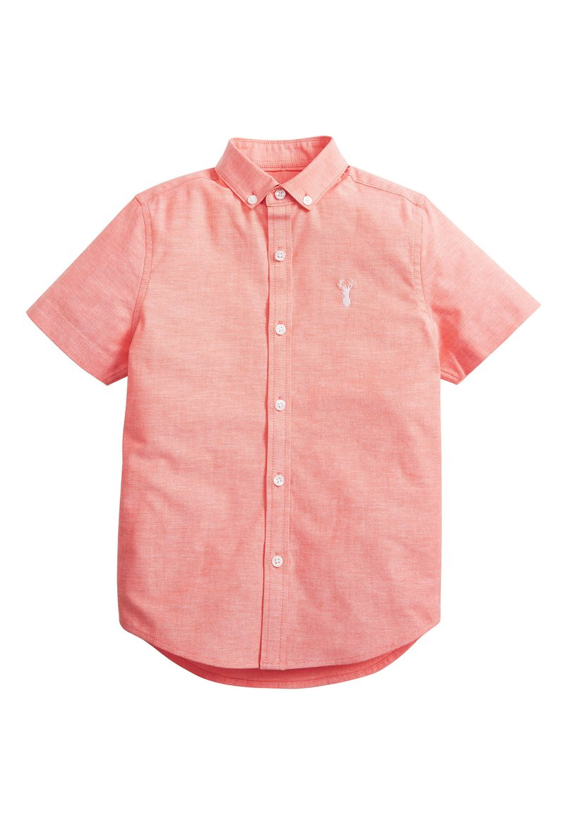 Next - CORAL SHORT SLEEVE OXFORD SHIRT (3-16YRS) - Camicia - orange