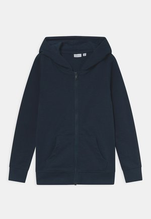 NKMNESWEAT CARD HOOD - Zip-up sweatshirt - dark sapphire