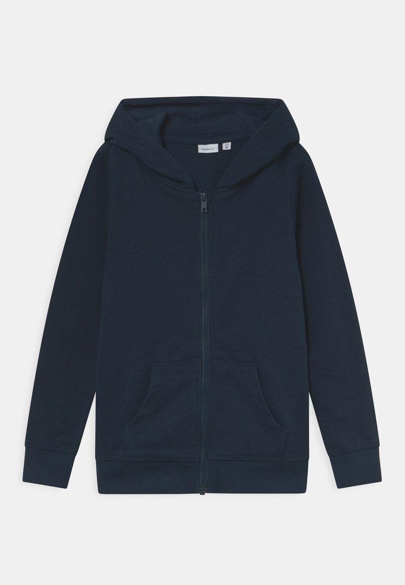 Name it - NKMNESWEAT CARD HOOD - Zip-up sweatshirt - dark sapphire