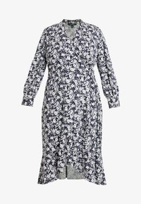 Lauren Ralph Lauren Woman - URANYA LONG SLEEVE CASUAL DRESS - Jersey dress - navy/pale cream - 4