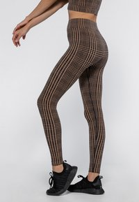 Heart and Soul - HOUNDSTOOTH  - Collant - black/camel - 3