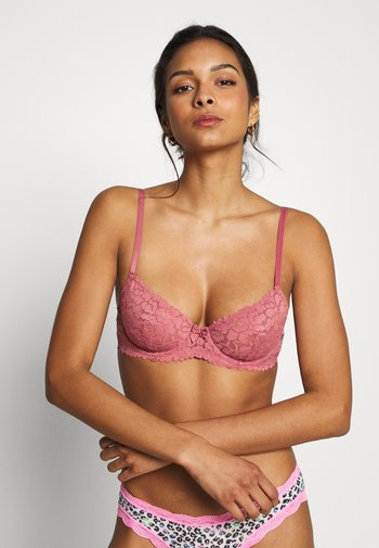 2 pack lace underwire bra - Underwired bra - rosé/nude