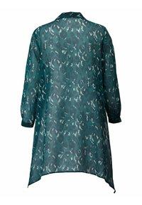 Sara Lindholm by HAPPYsize - Button-down blouse - petrol - 2