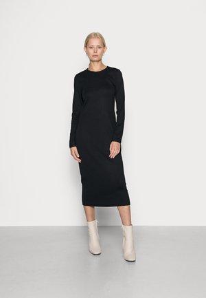 MIDI DRESS - Jersey dress - true black