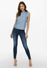 ONLY - Blus - faded denim - 1