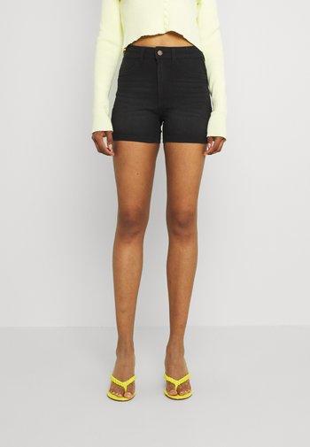 JDYTULGA LIFE HIGH MINI - Shorts di jeans - black