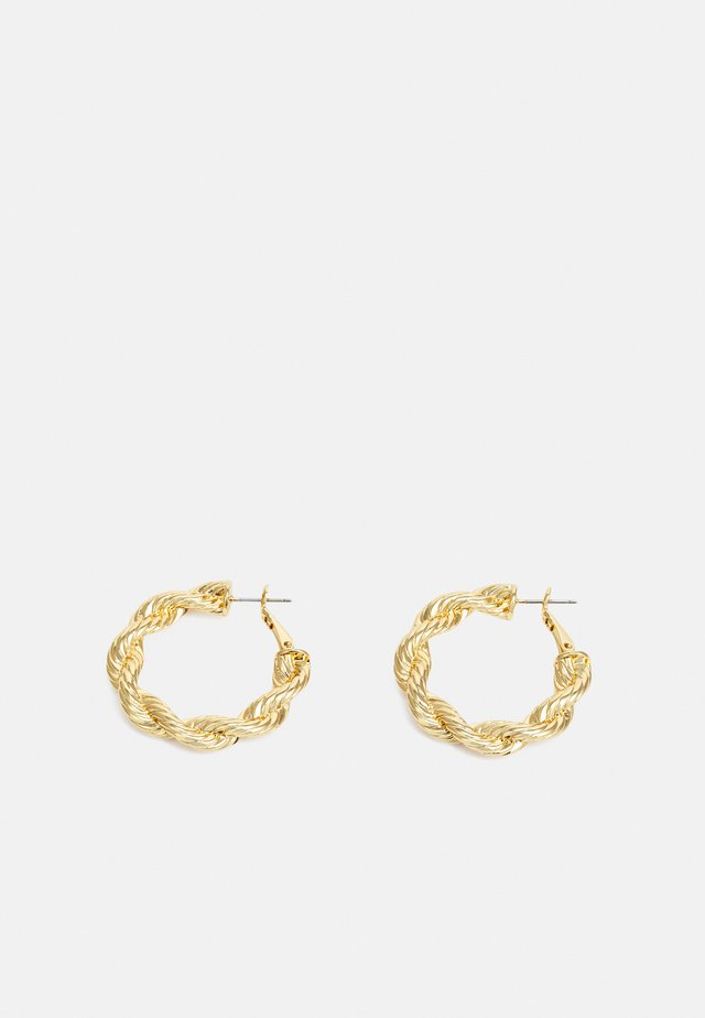 ROPE CHAIN HOOP EARRING - Pendientes - gold-coloured