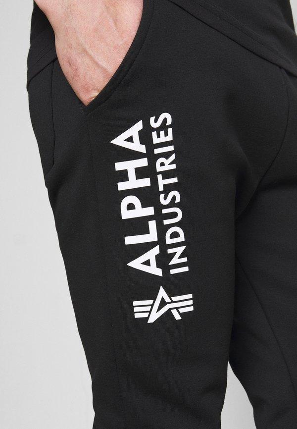 Alpha Industries BASIC - Spodnie treningowe - black/czarny Odzież Męska ESRJ