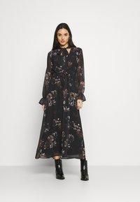 NU-IN - SLEEVE MAXI DRESS - Robe longue - black - 0