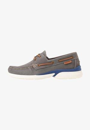 JACKE 1 - Boat shoes - light grey