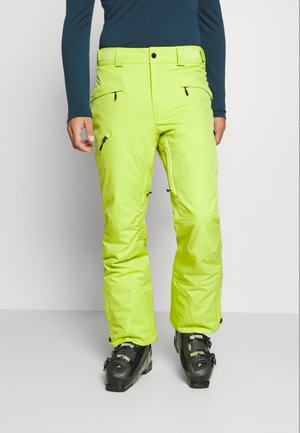 KICK TURN PANT - Pantalon de ski - bright chartreuse