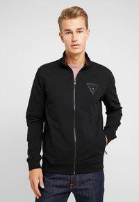 Guess - WIL TRACK SLIM FIT  - Zip-up hoodie - jet black - 0