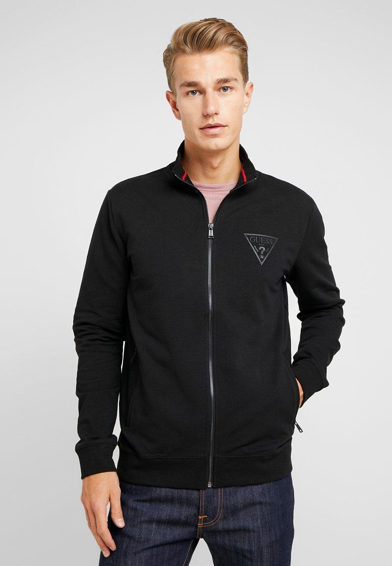 Guess - WIL TRACK SLIM FIT  - Zip-up hoodie - jet black