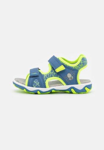MIKE 3.0 - Walking sandals - blau/gelb