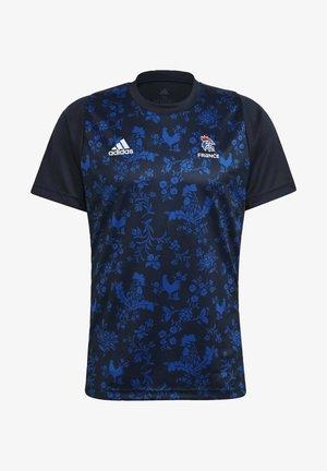 FFHB M HB PERFORMANCE AEROREADY PRIMEGREEN HANDBALL REGULAR T-SHIRT - National team wear - blue
