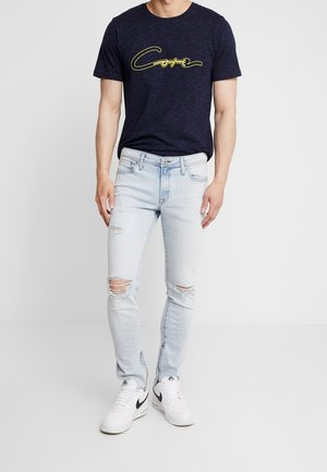 JJILIAM JJORIGINAL ZIP - Jeans Skinny Fit - blue denim