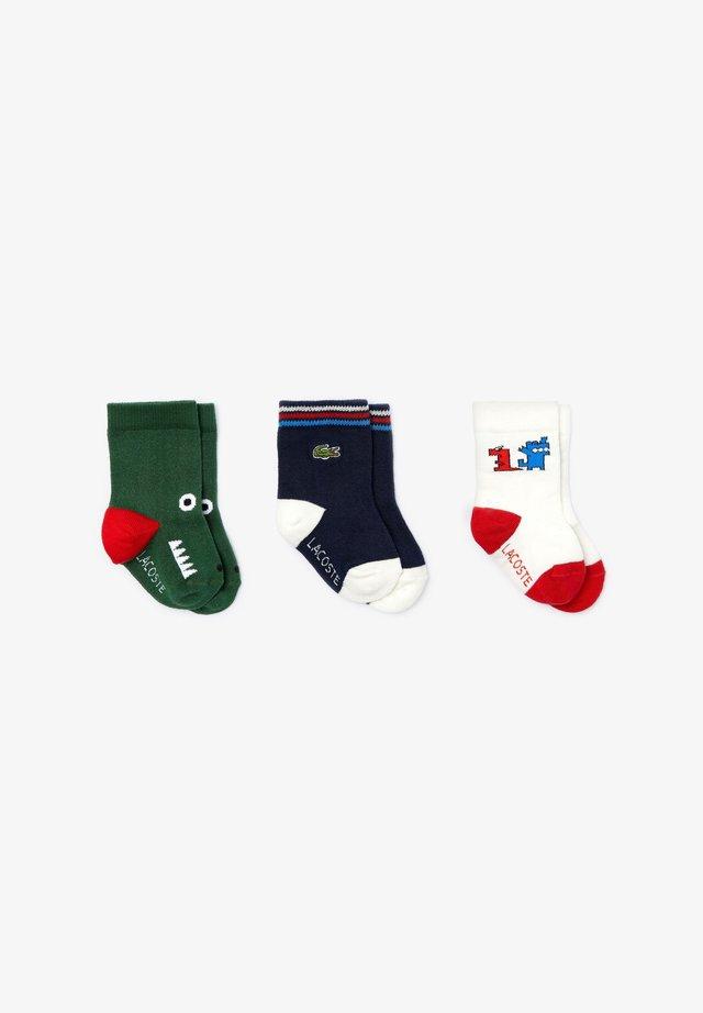 3 PACK - Sokken - blanc / bleu marine / vert