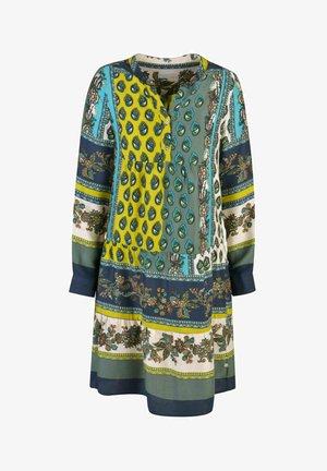 Shirt dress - green / yellow / blue