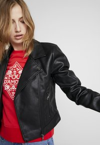ONLY - Faux leather jacket - black - 3