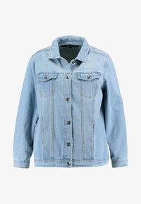 Simply Be - OVERSIZED JACKET - Denim jacket - bleachwash - 3