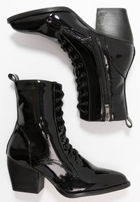 co wren wide fit - Lace-up ankle boots - black - 3