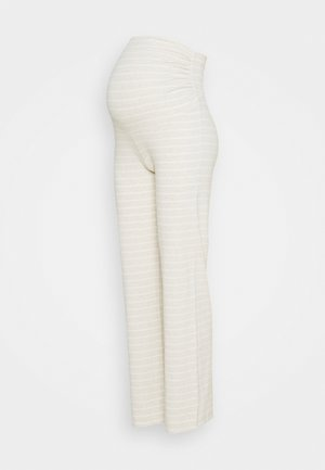 NIGHT TROUSERS MOM - Pyjamahousut/-shortsit - light beige melange
