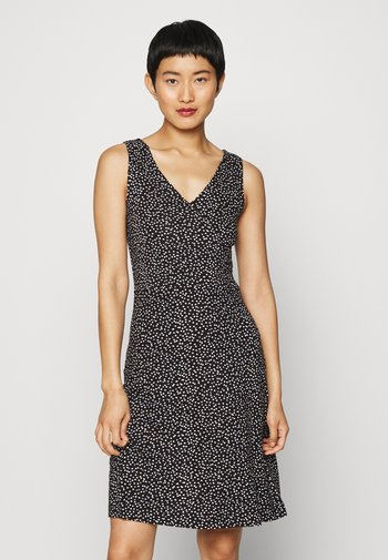 Jersey dress - black/offwhite
