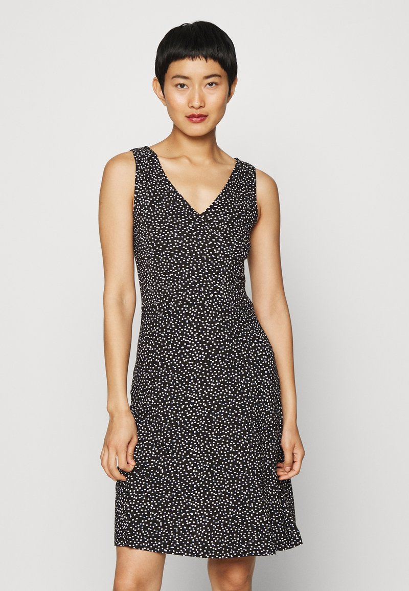 TOM TAILOR - Jersey dress - black/offwhite