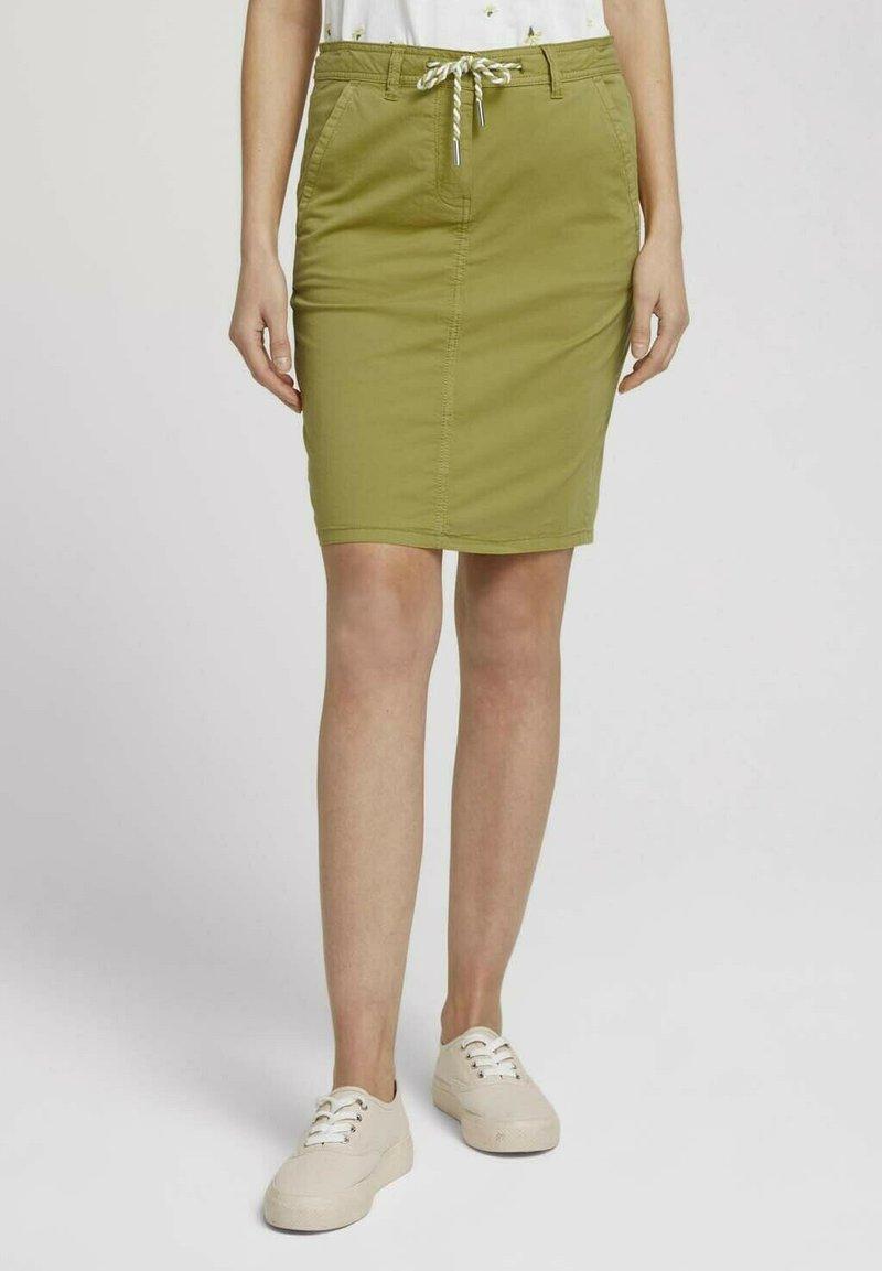 TOM TAILOR - Pencil skirt - gecko green