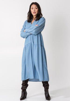 AGNETA - Denim dress - ltblue