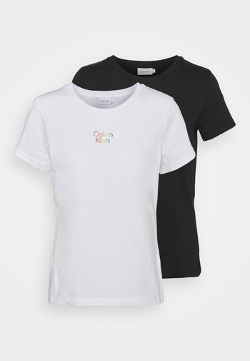 PRIDE COUPLES TEE 2 PACK - T-shirts med print - black/bright white