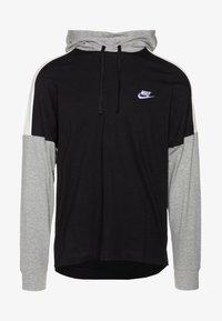 Nike Sportswear - Hoodie - black/dk grey heather/sail/(white) - 3