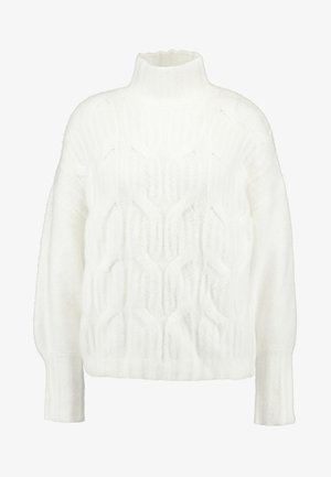 FUNNEL NECK JUMPER - Jumper - off white
