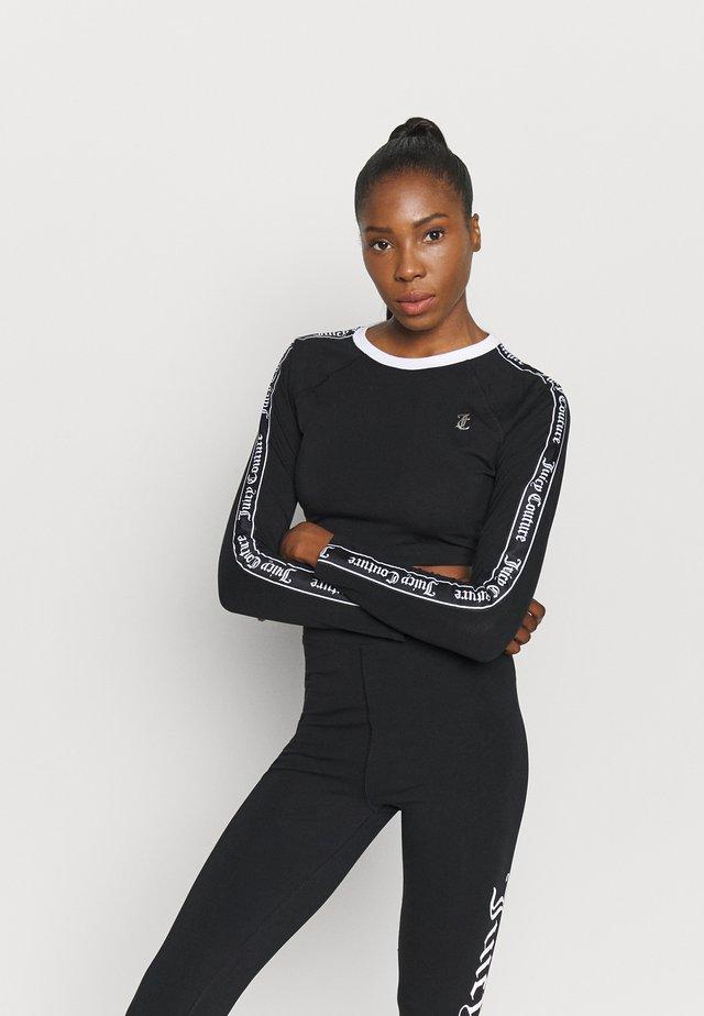 JANET - T-shirt à manches longues - black