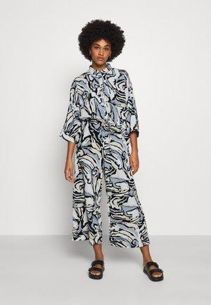 HARRIOT - Jumpsuit - black/beige/blue