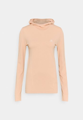 ESSENTIAL SEAMLESS HOODIE - Long sleeved top - sirocco/shell
