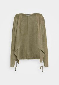 Betty & Co - Faux leather jacket - dusty olive - 3