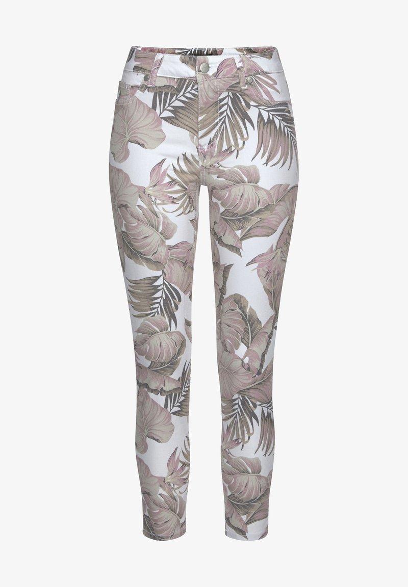 LASCANA - Jeans Skinny Fit - weiß-bedruckt