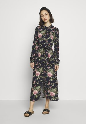 VMSIMPLY EASY LONG DRESS - Skjortekjole - night sky/tyra